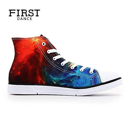 Primera Danza Casual High Top Zapatos Customerizd 3d Prints Cómodo Zapatillas Sneaker Unisex