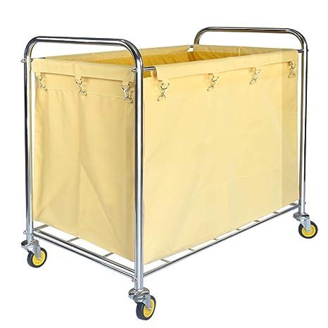 HYDT Carrito de lavandería Carro Amarillo de clasificadores ...
