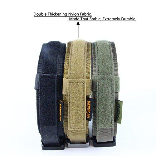 "Anseahawk K9 Tactical Dog Collar Adjustable Military Training Heavy Duty Nylon Dog Collars with Control Handle Metal Buckle, 1.5"" Width new"