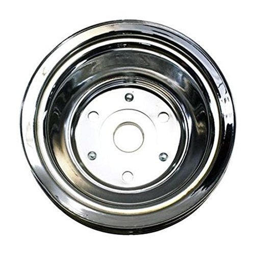 1969-85 Small Block Fits Chevy Triple Groove Lower Pulley, Long Water Pump