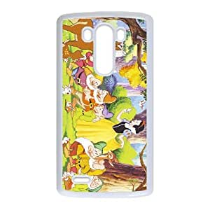 Snow White and Seven Dwarfs For LG G3 Case Cell phone Case Qdmq Plastic Durable Cover