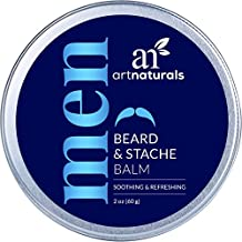 ArtNaturals Mustache and Beard Balm - (2 Oz - 60g) - Natural Oil and Wax Leave In Conditioner - Soothes Itching, Thickens, Strengthens, Softens and Styles Facial Hair Growth