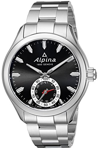 Alpina Men's AL-285BS5AQ6B Horological Analog Display Swiss Quartz Silver-Tone Smart Watch