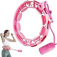 FCXJTU Weighted Smart Hoola Hoops, Adjustable Abdomen Fitness Exercise Massage Hoola Hoops, Adjustable Weight