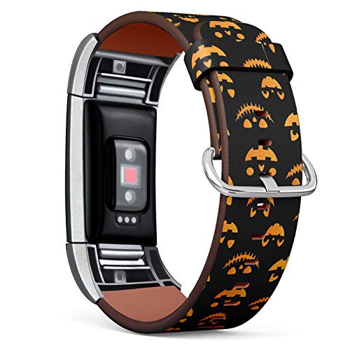 [ Compatible Fitbit Charge 2 ] Replacement Leather Band Bracelet Strap Wristband Accessory // Halloween Autumn Fall Cute