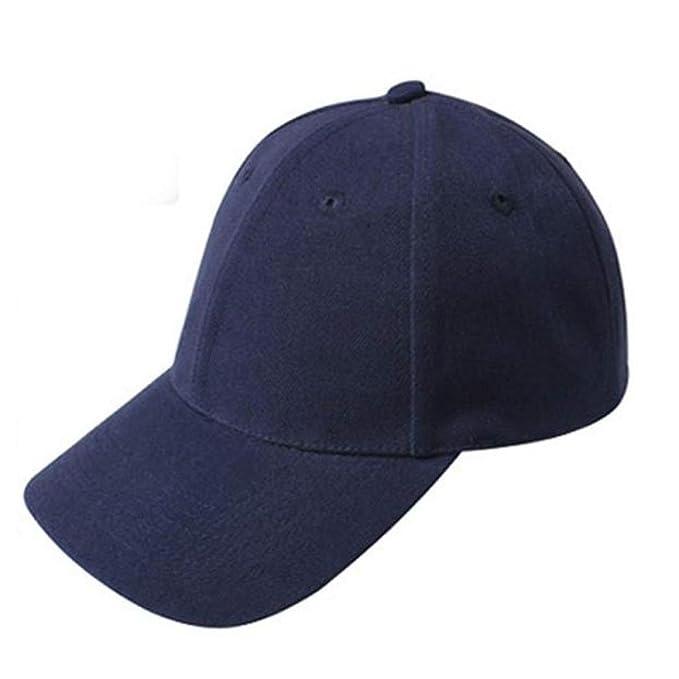 Absolute Gorras Béisbol Sombrero en Blanco Sombrero Ajustable de Color Sólido (Armada)