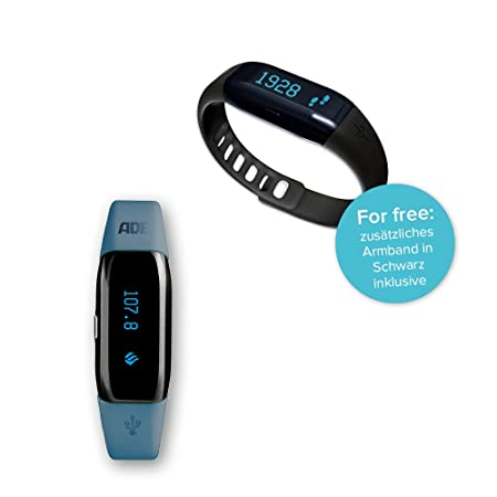 ADE Pulsera de actividad inteligente AM1602 FITvigo. Fitness Tracker con App gratuita FITvigo Android+Iphone. Reloj, podómetro, sueño, calorias y tips.