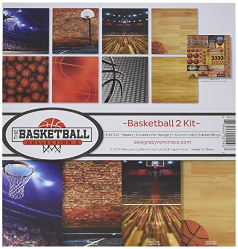 Reminisce the Basketball Collection 2 Scrapbook Kit (Basketball Scrapbooking Paper)