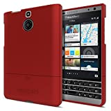 Seidio SURFACE Case for BlackBerry Passport Silver Edition [Ultra-Slim Protection] - Carrier Packaging - Garnet Red