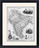 Framed Print Of Map/asia/india C1850