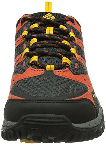 Columbia Redmond Mid Waterproof - Zapatillas para Deportes Hombre Naranja (Bonfire, Treasure 846)