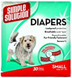 Simple Solution Disposable Dog Diaper 30pk