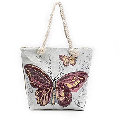 Besace Sac serrage papillon Cordon Léger Dunland Multicolore4 peinture de Sac Sac bandoulière épaule Porté T8wpq