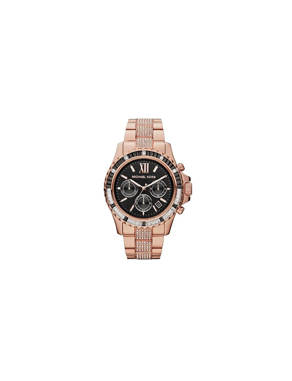 62c8c59896ba Amazon.com  Michael Kors Everest Chronograph Black Dial Rose Gold-tone  Ladies Watch MK5875  Michael Kors  Watches