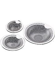 4YANG Wastafelfilter badkamer wastafel haarfilter mop zwembadfilter roestvrij staal afvoergat wastafel zeef stekker voor badkamer, keuken