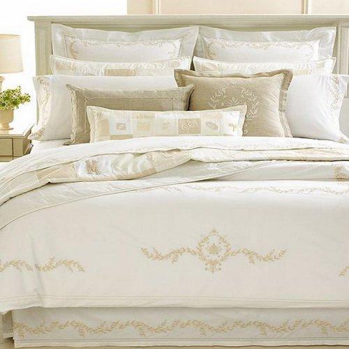 マーサスチュワートコレクション寝具、Trousseau Crestキングベッドスカート B00D3P546E