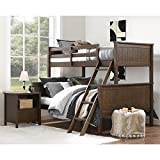 Dorel Living Maxton Mocha Twin over Full Bunk Bed   4-Step Ladder Included
