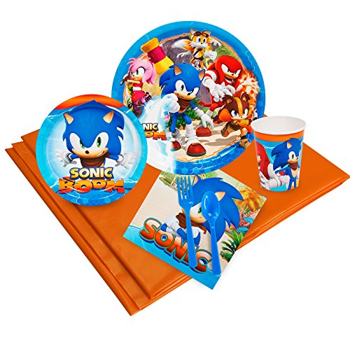 BirthdayExpress Sonic Boom Party Supplies - Party Pack for 24