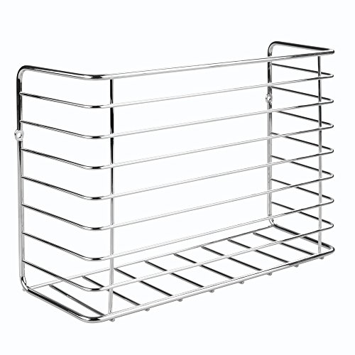 InterDesign Classico Kitchen Cabinet Organizer for Sandwich Bags, Plastic Wrap, Aluminum Foil - Chrome