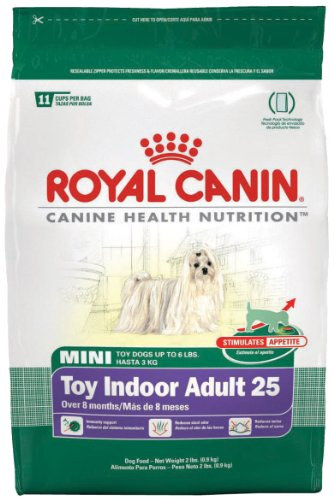Royal Canin Dry Dog Food, Mini Toy Indoor Adult 25 Formula, 2-Pound Bag