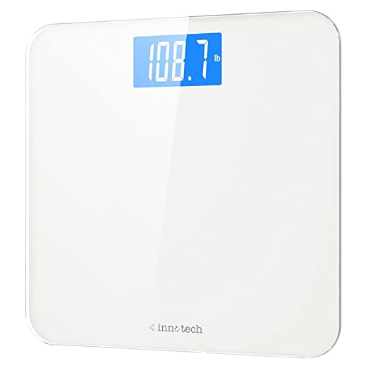 Product thumbnail for Innotech Digital Bathroom Scale with Easy-to-Read Backlit LCD