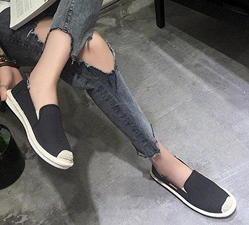 de del femeninos pa EU38 de planos 3 lona CN38 zapatos UK5 US7 ocasionales salvajes o 5 los 5 Zapatos zapatos KUKI 5npqA8