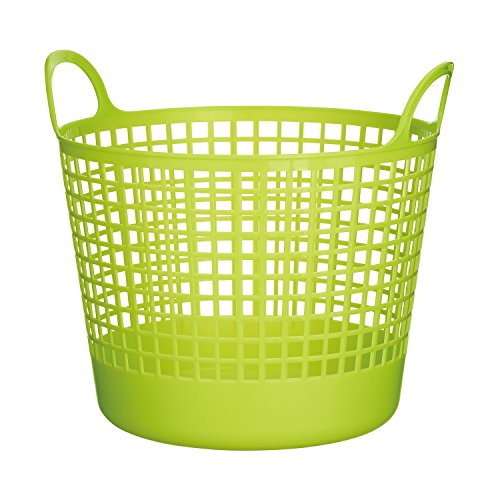 Like-it SCB-1 Plastic Round Laundry Basket, 14.76-Inch H by 16.14-Inch W by 14.57-Inch D, Green