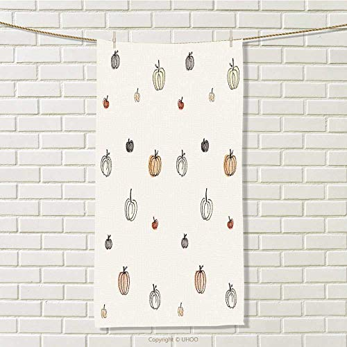 DESPKON-HOME Toddler Towel Halloween Pumpkin Wallpaper 3D Digital Printing W 14