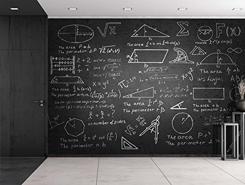 wall26  Mathematical Problems on a Chalk Board  Wall Mural Removable Sticker Home Decor  100x144 inches