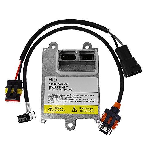 qkparts 1x D1S D1R D1C HID lastre Stock Luz de xenón 35W de repuesto con cable de amplificador