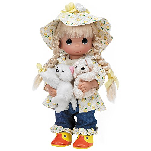 The Doll Maker Precious Moments Dolls, Linda Rick, Raining Cats and Dogs, 12 inch Doll