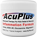 AcuPlus Pain Relief Cream, 2 Oz. - Advanced Therapy for Relief and Recovery from Bursitis, Tendonitis, Joint Pain, Arthritis Pain, and Muscle Pain.