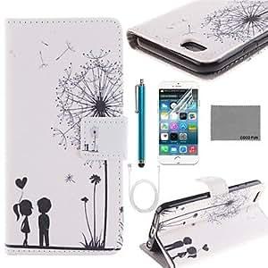 Carcasas de Cuerpo Completo - Gráfico/Color Mixto/Diseño Especial/Innovador - para iPhone 6 ( Multicolor , Cuero PU/Plástico )