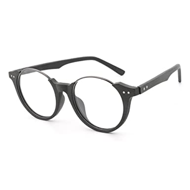 cb667d6c25 Men Women Wooden Glasses - Clear Lens Glasses Frame - Round Eyeglasses -  hibote  18020709