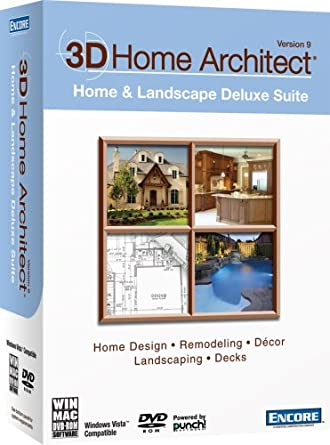 3D Home Architect Home U0026 Landscape Deluxe Suite Version 9 [Old Version]