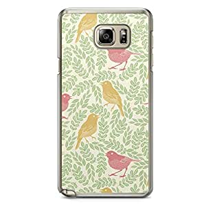 Spring Birds Pattern Samsung Galaxy Note 5 Transparent Edge Case - Animal Patters Collection
