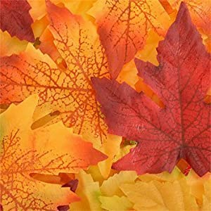 Pumpkin Fall Leaves Artificial Autumn Maple Flower Leaf Thanksgiving Table Decorations 50 Count 78