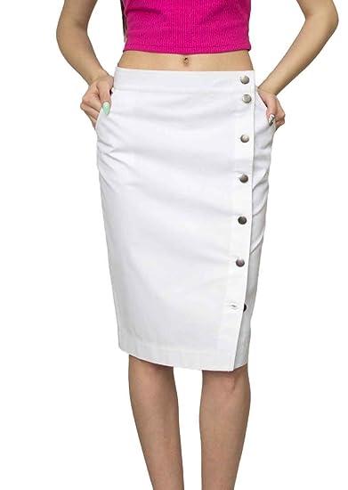 0f1a281bf1 Souvenir-Fashion New Ladies Casual Boutique Knee Length Pencil White Denim  Skirt UK 8 10 12 14 16 18 20 22: Amazon.co.uk: Clothing