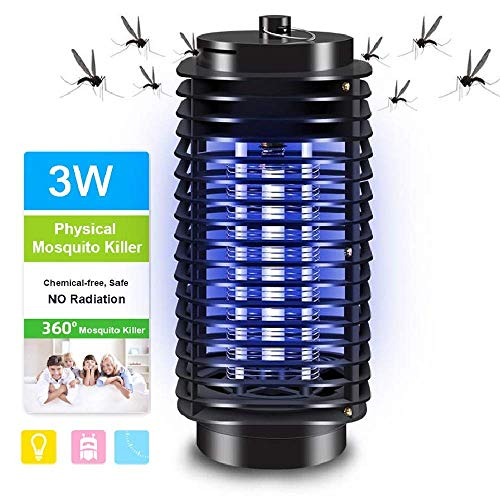 Lixada Electric Bug Zapper,Portable UV Light Standing or Hanging Light for Home Office Indoor and Outdoor Use