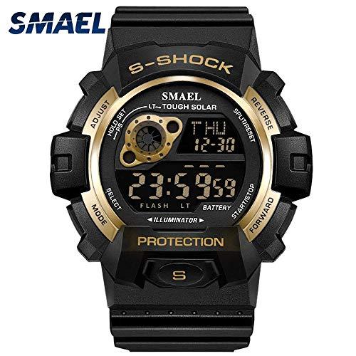 Amazon.com : Mens Sports Analog Quartz Watch Dual Display Waterproof Digital Watches LED Backlight relogio Masculino El Movimiento de Los relojes : Sports ...