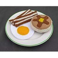 Felt Food Breakfast set, Bacon, Eggs and Pancake