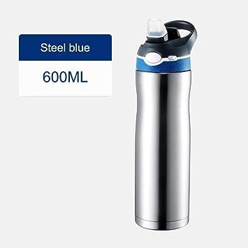 ZXASDC 316 Botella de Agua Acero Inoxidable - 600ml Termo ...