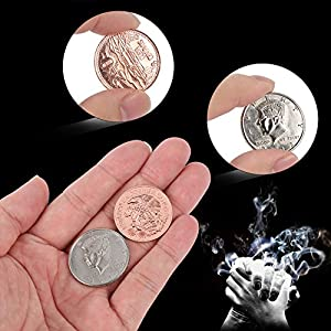 Magic Coins, Scotch and Soda Magic Trick Money Set, Professional Magician Ridge Scotch Soda Coins Tricks Close-Up