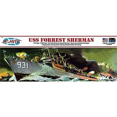 USS Forrest Sherman Destroyer Plastic Model Ship Kit 1/320 Atlantis: Toys & Games