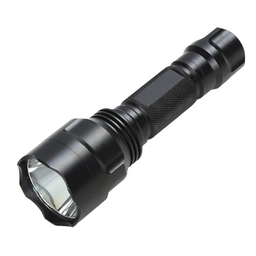 Hands Free Flashlights White LED Tactical Flashlight 18650 Batteries Aluminum Torch Lamp for Camping Backpacking Bike Hands Free Flashlights