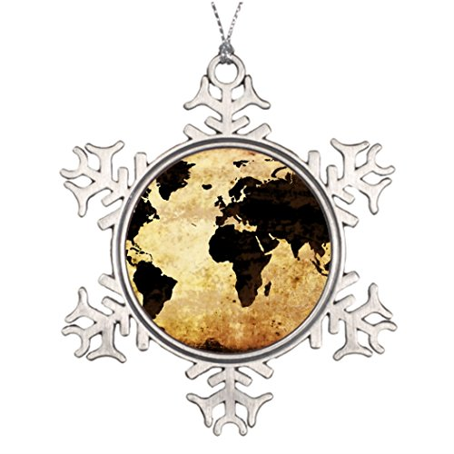 Touytlyd Christmas Decoration Continents Outdoor Christmas Decoration Globe agedworldmap