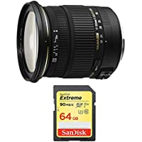 Sigma 17-50mm f/2.8 EX DC OS HSM FLD Zoom Lens for Nikon Includes Bonus Sandisk 64GB Extreme SD Memory UHS-I Card w/ 90/60MB/s Read/Write