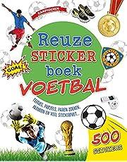 Reuzestickerboek Voetbal: Feitjes, puzzels, paren zoeken, kleuren en veel stickerpret...
