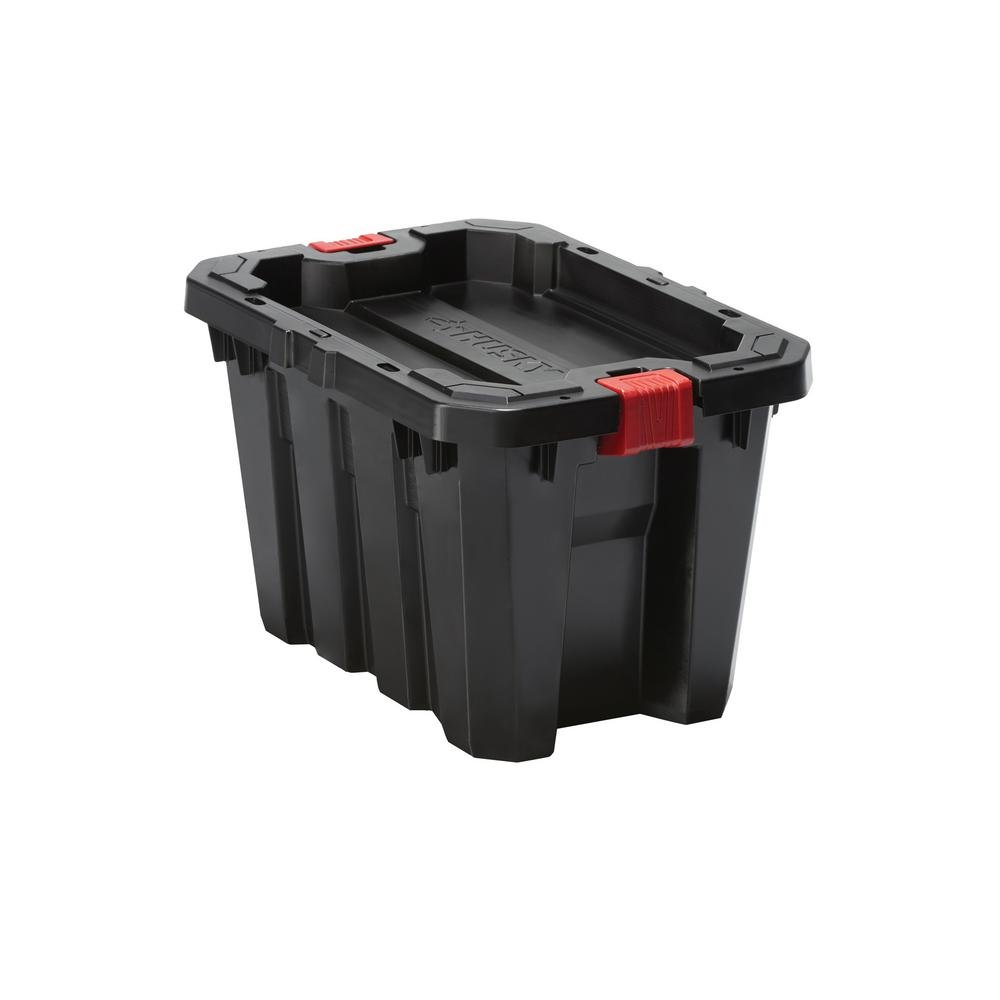 Husky 5 Gal. Latch and Stack Tote in Black