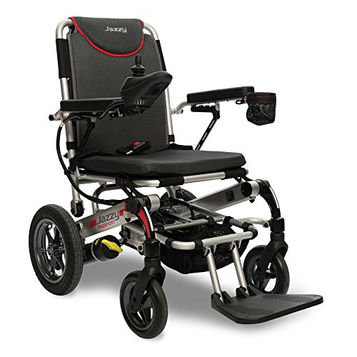 Pride Mobility Jazzy Passport, Folding Travel Electric Powerchair - Lightweight Portable Folding Electric Wheelchair ()